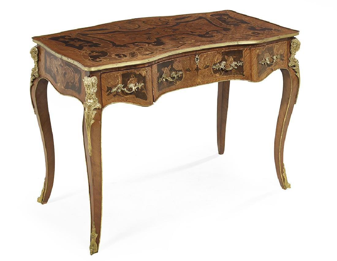 Louis XV-Style Kingwood and Marquetry Desk - 2