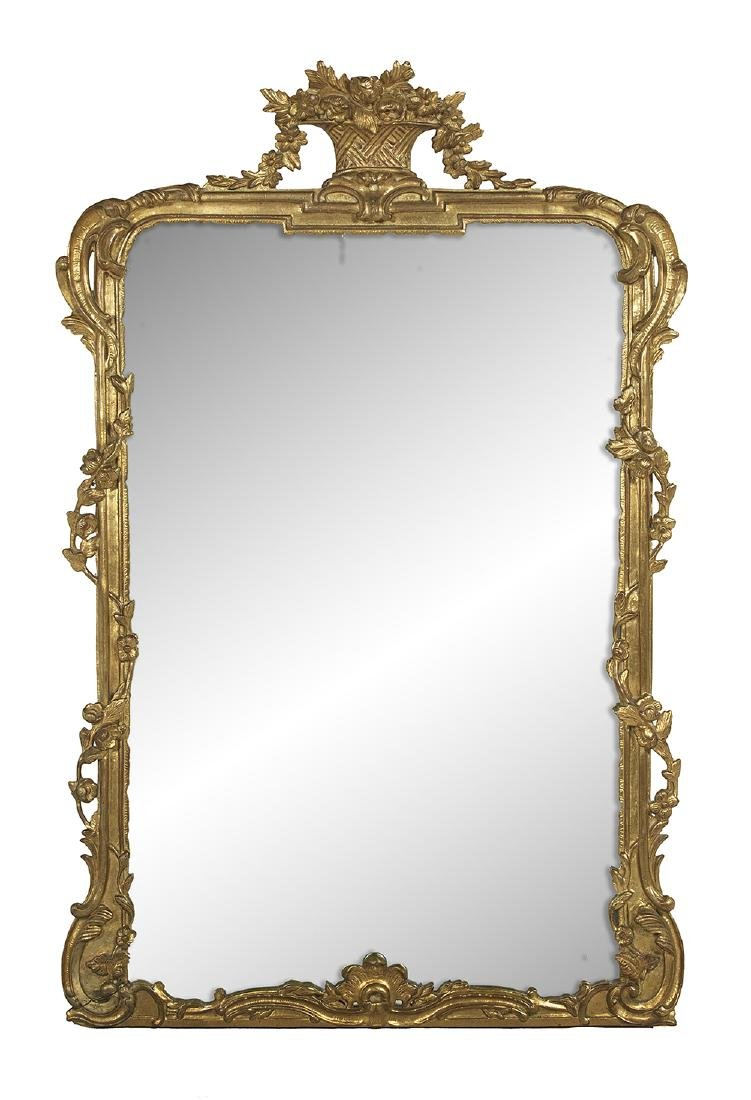 Rococo-Style Giltwood Mirror
