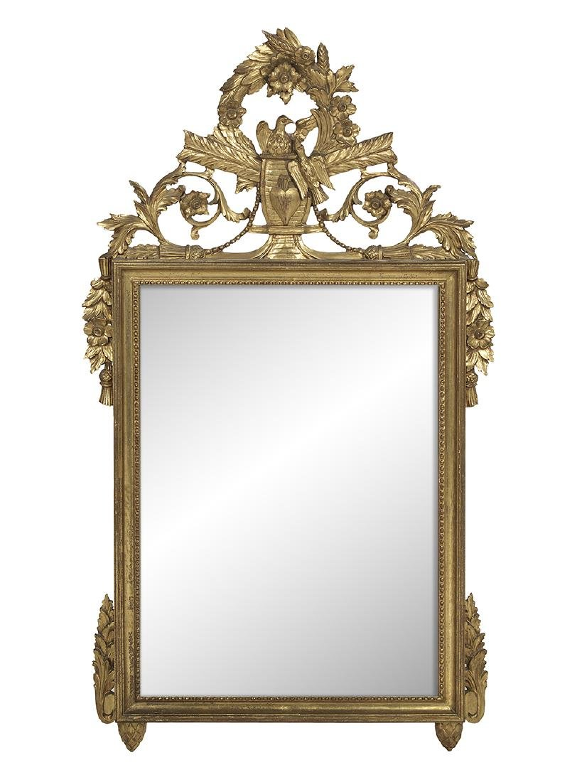 French Giltwood Mirror in the Louis XVI Taste
