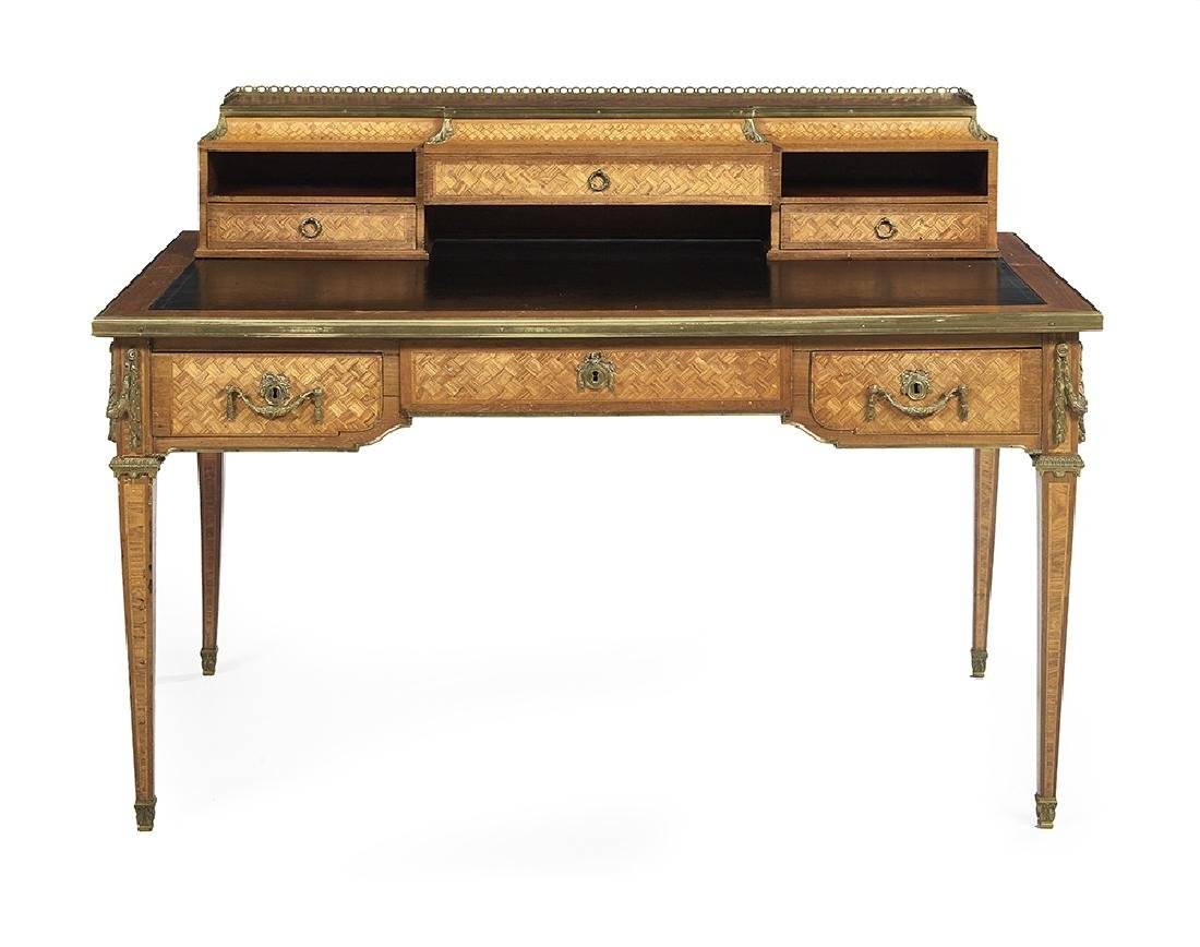 Louis XVI-Style Kingwood Parquetry Desk