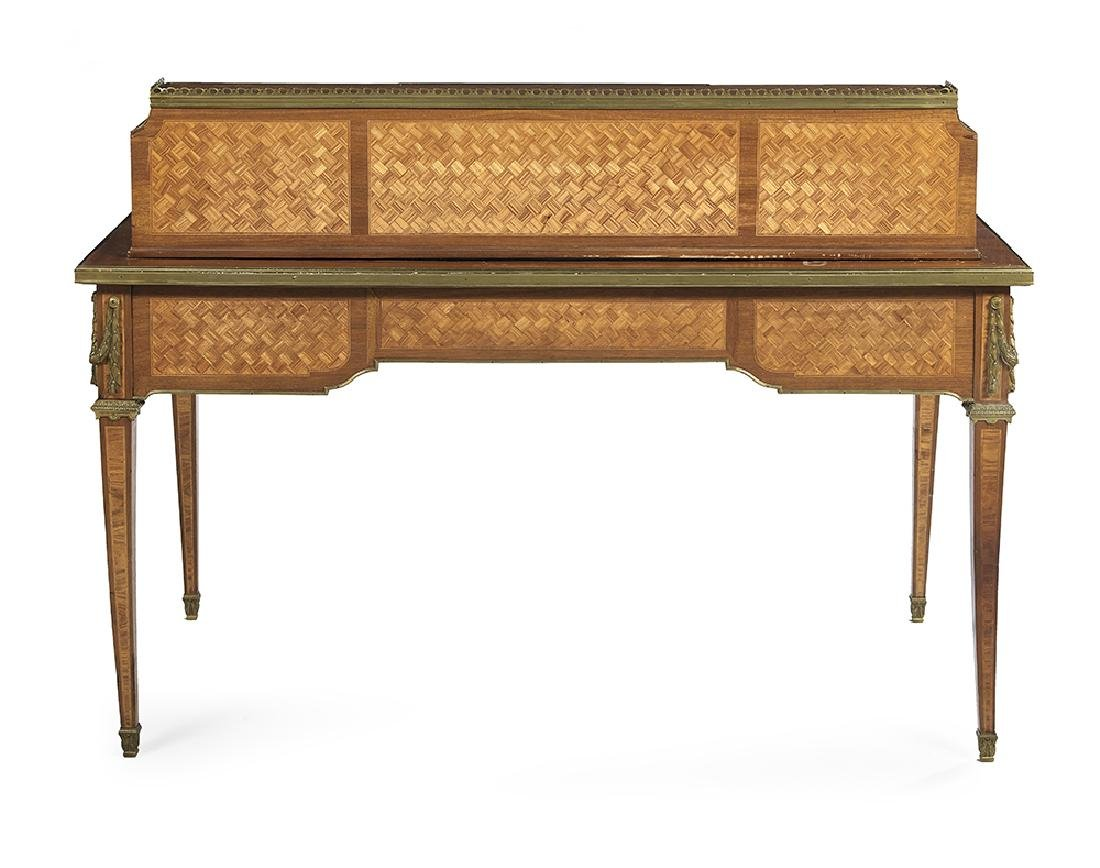 Louis XVI-Style Kingwood Parquetry Desk - 3