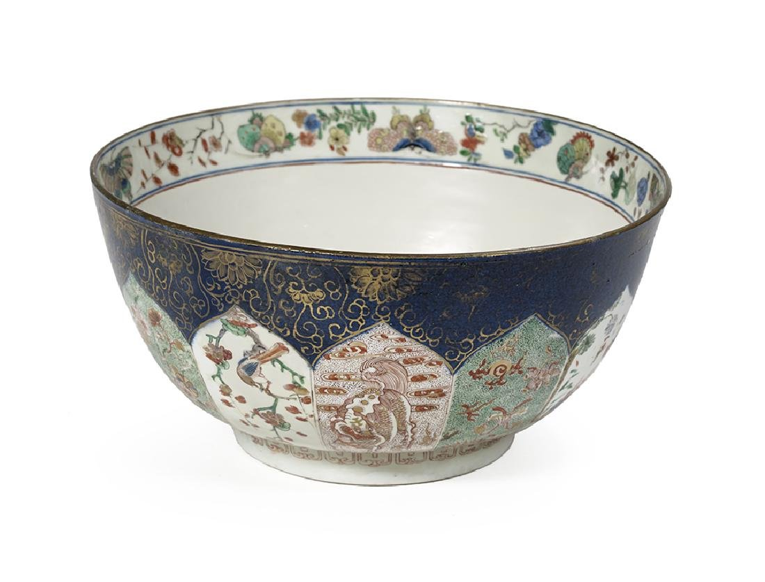 Chinese Powder-Blue and Famille Verte Porcelain Bowl