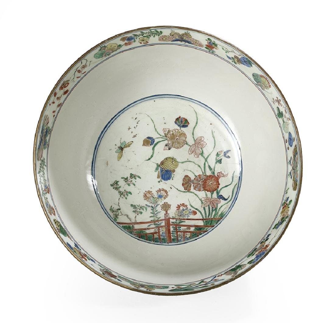 Chinese Powder-Blue and Famille Verte Porcelain Bowl - 2