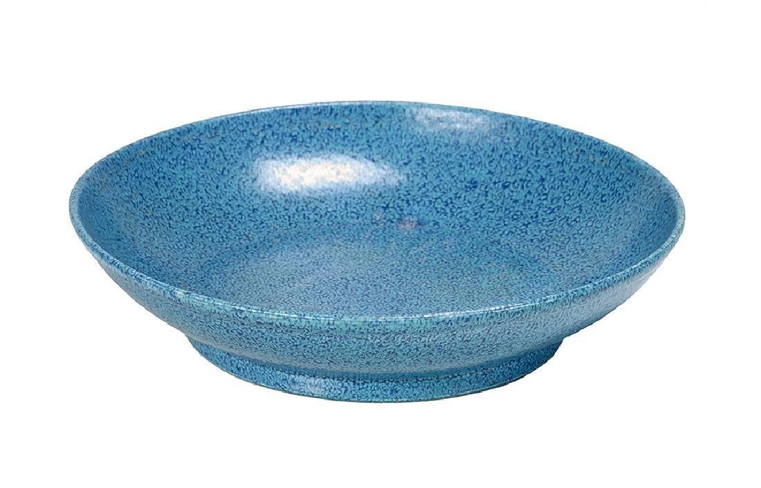Chinese Robin's Egg Blue Glaze Porcelain Dish