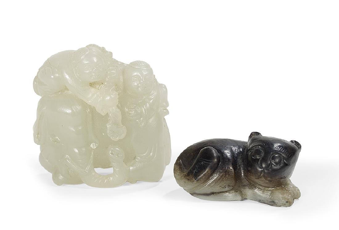 Two Chinese Nephrite Carvings