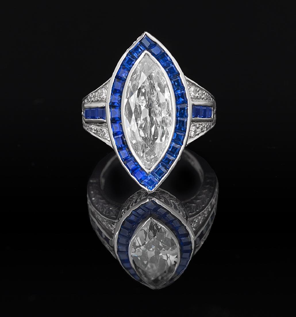 Stunning Diamond and Sapphire Ring