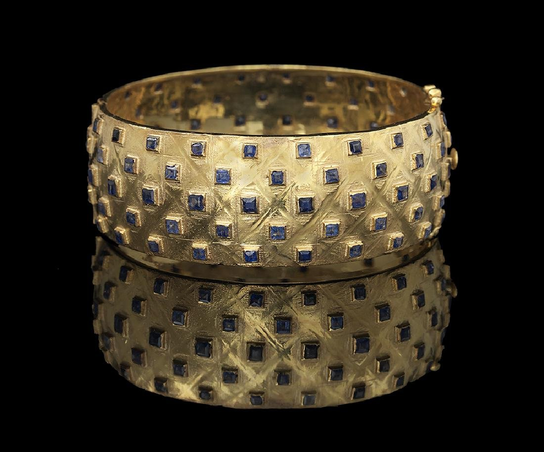 Sapphire Bangle Bracelet