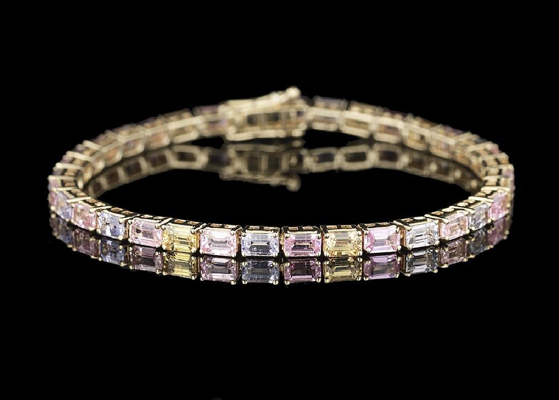 Multicolor Sapphire Bracelet