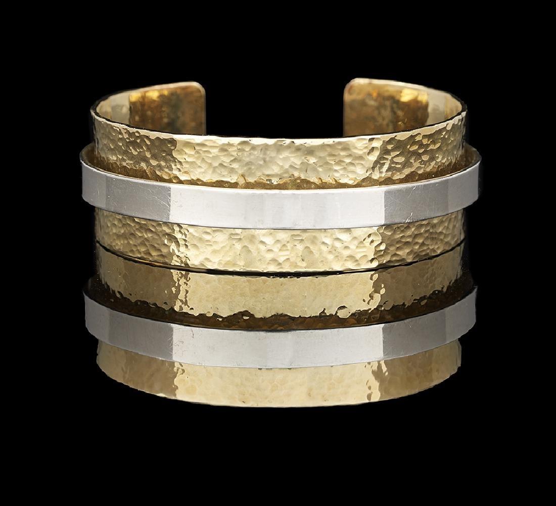 Hammered Gold Cuff Bracelet