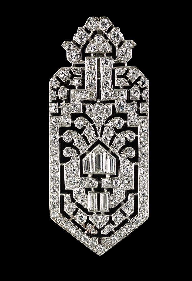 Beautiful Art Deco Diamond Pendant Necklace - 2