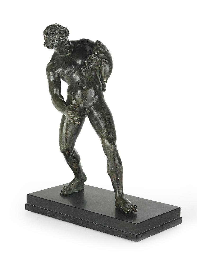 """Continental Patinated Bronze Figure of """"The Youthful"""