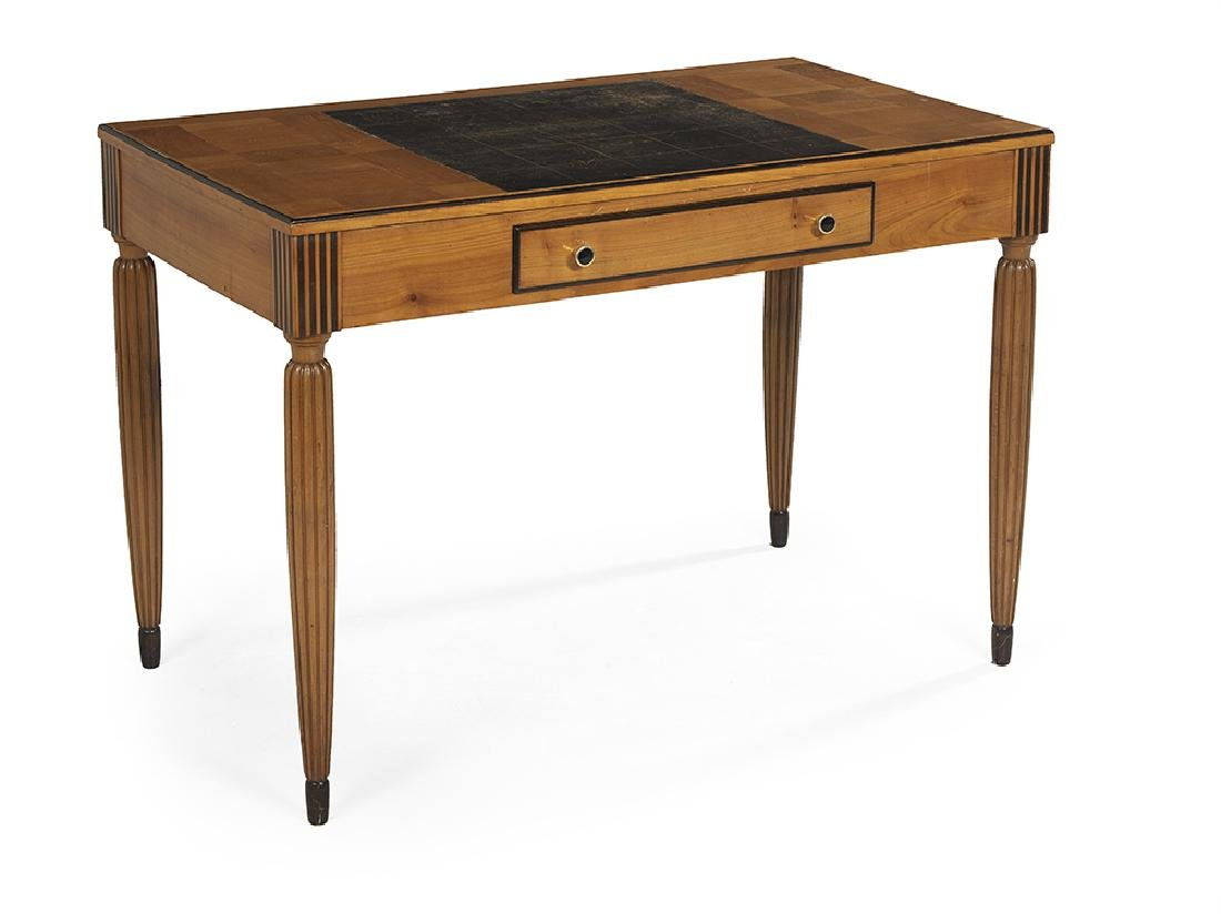 Continental Art Deco Satinwood and Fruitwood Writing - 2