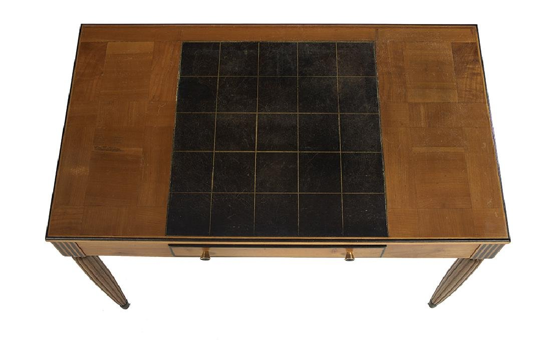 Continental Art Deco Satinwood and Fruitwood Writing - 3