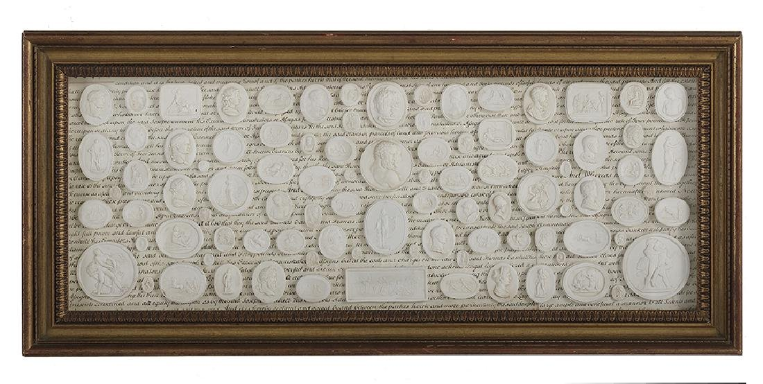 Impressive Collection of Grand Tour Plaster Medallions