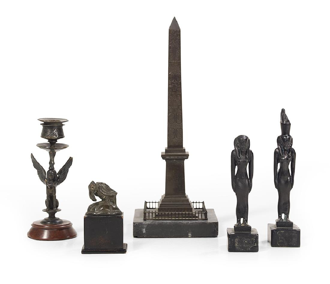 Five-Piece Collection of Egyptian Revival Grand Tour