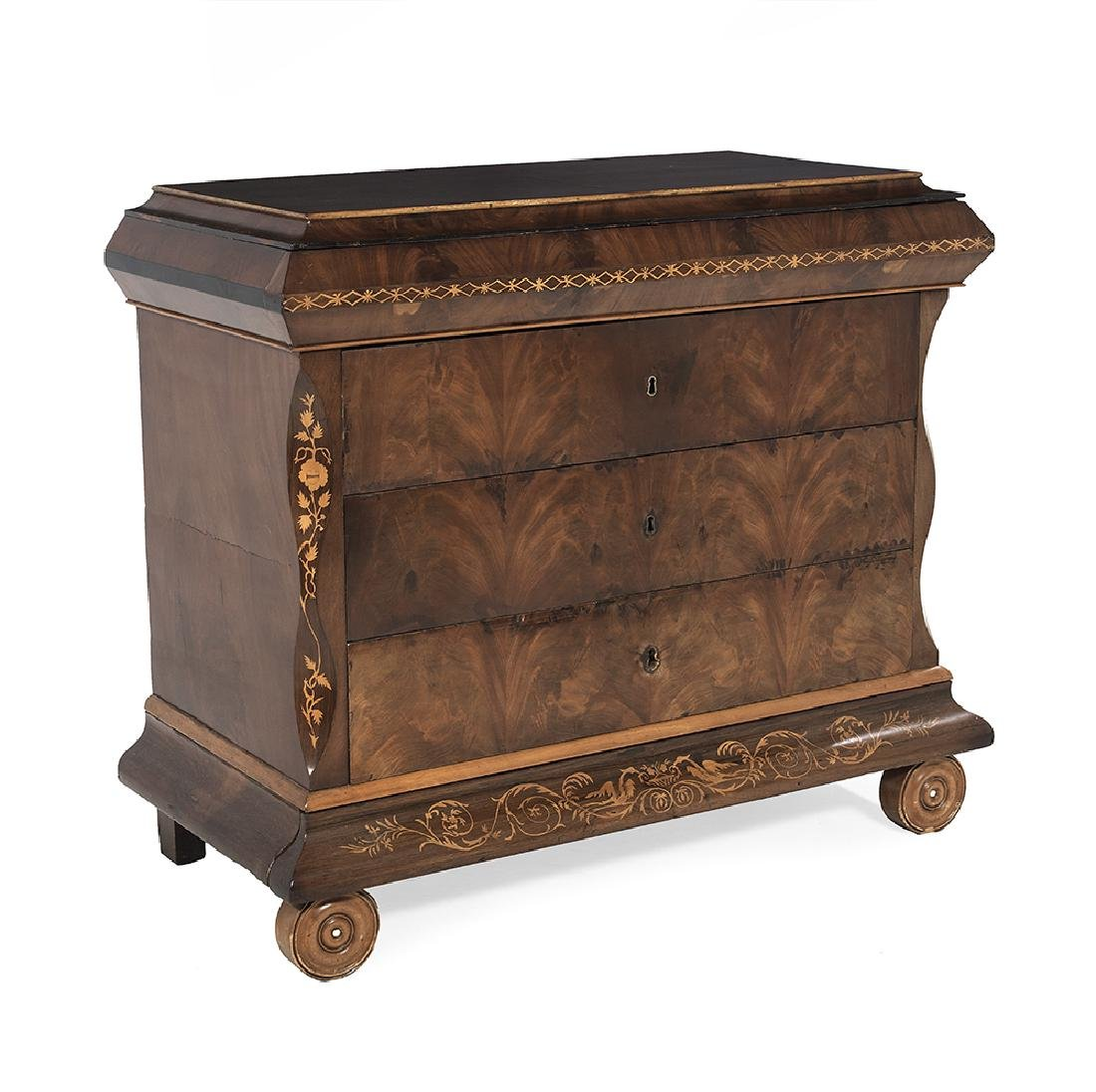 Continental Neoclassical Mahogany Commode - 2