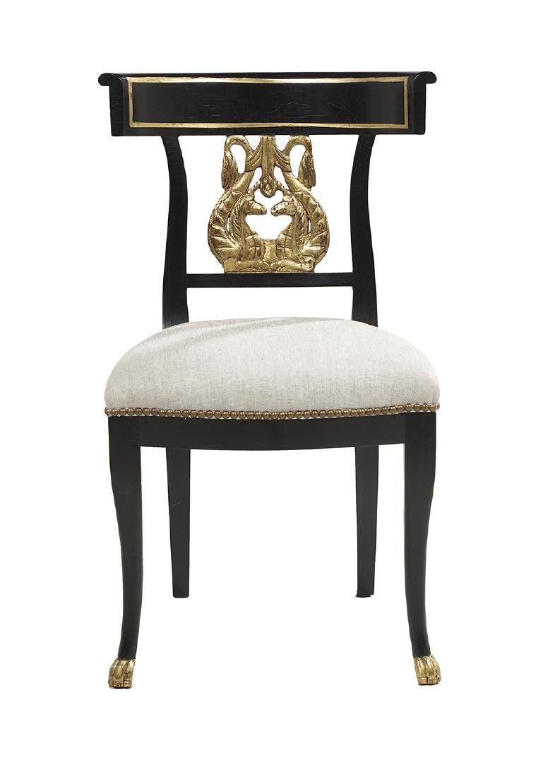 Suite of Six Neoclassical-Style Ebonized and - 2