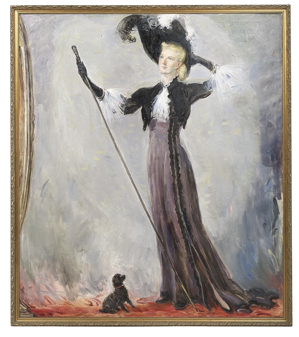"Wayman Adams, (American, 1883-1959), ""Portrait of the"