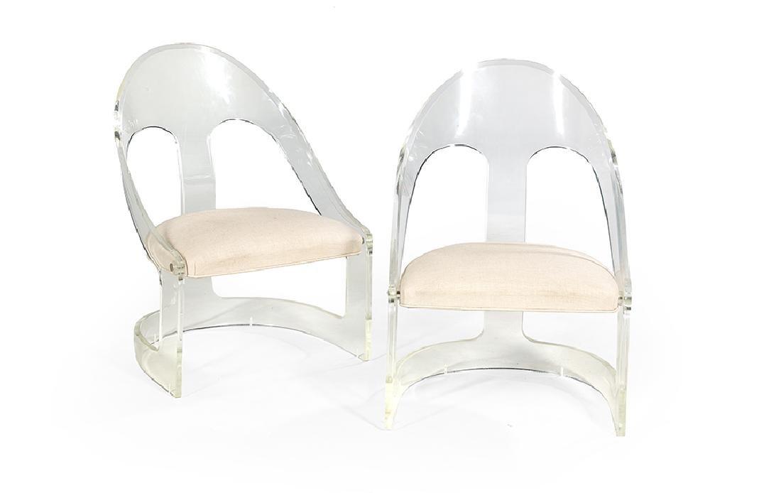 Pair of Acrylic Gondola Chairs