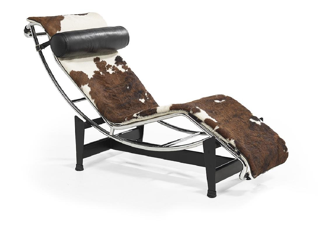 Cassina, Italy, Le Corbusier Steel, Leather and Hide