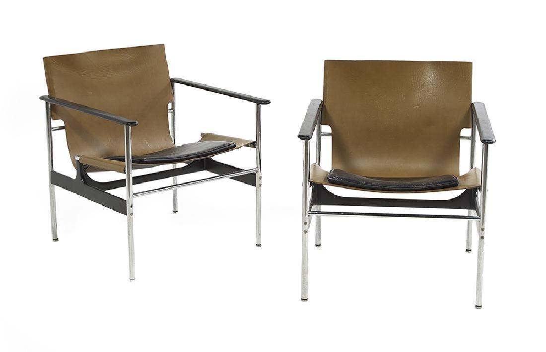"Vintage Pair of Knoll International ""657"" Sling Arm"