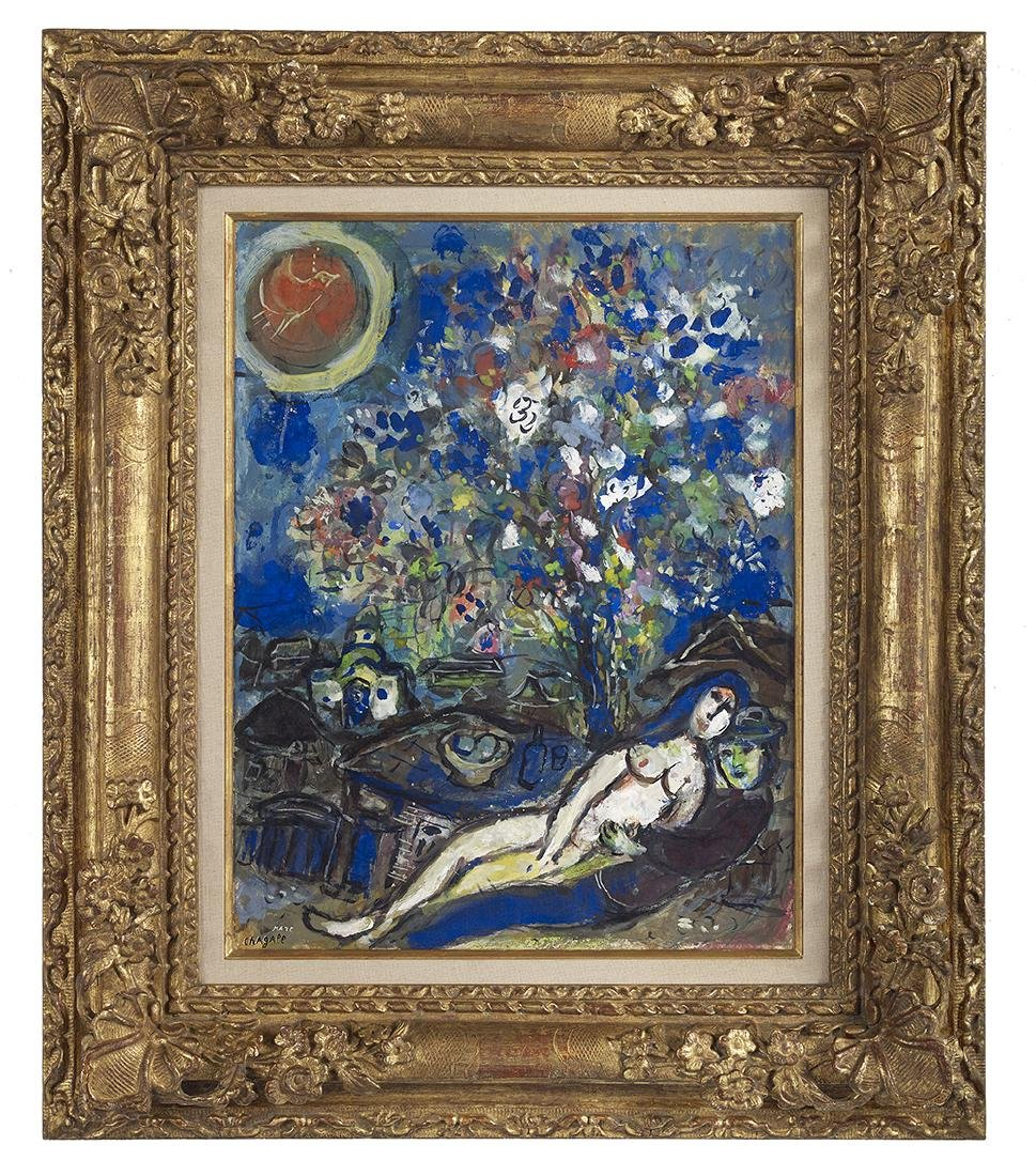 "Marc Chagall (Russian/French, 1887-1985), ""Le Bouquet"