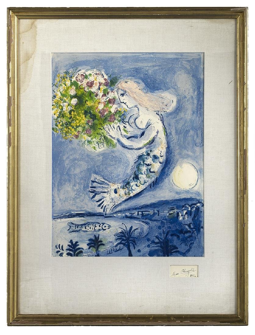 """Marc Chagall, (Russian/French, 1887-1985), """"La Baie des"""