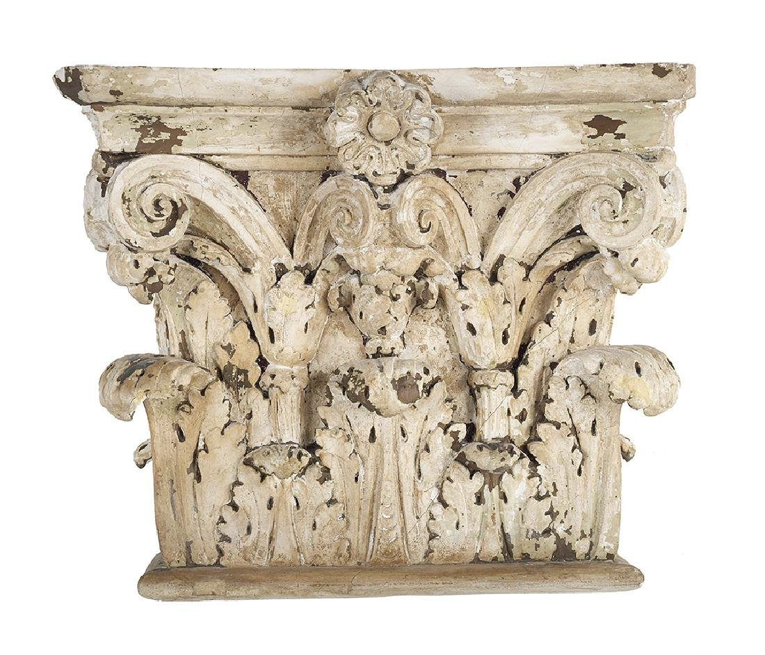Pair of Wood and Plaster Corinthian Capital-Form - 2