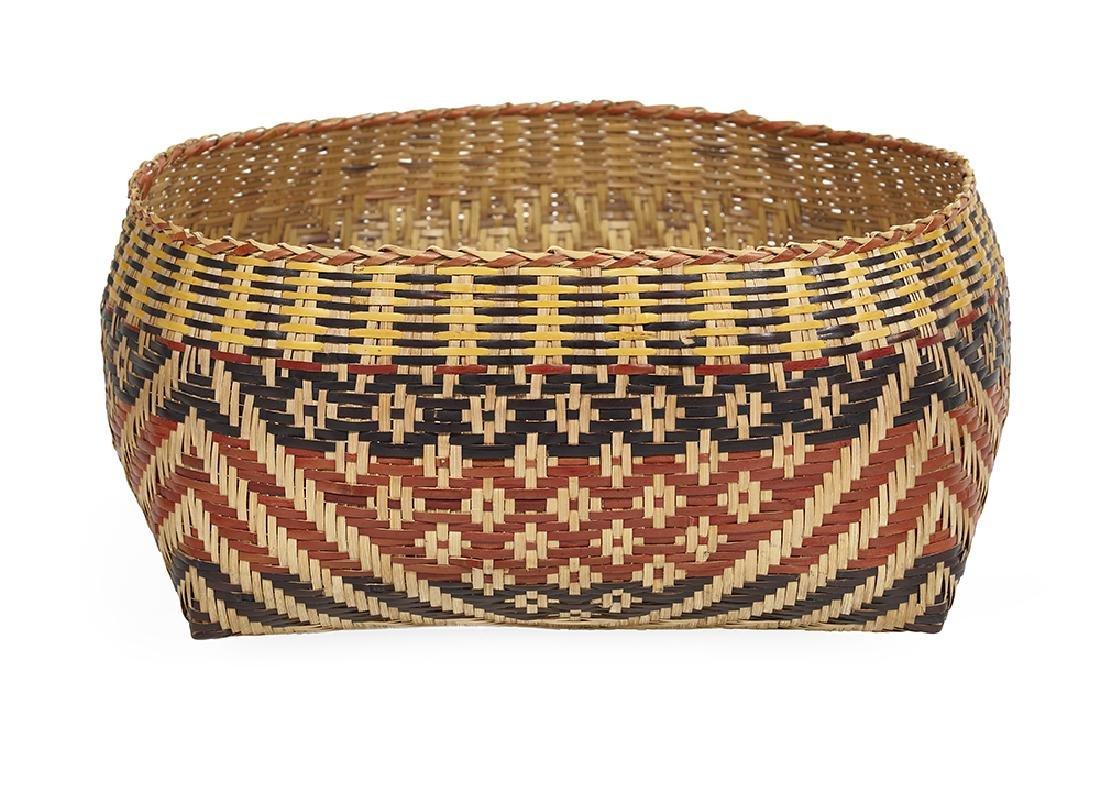 Chitimacha Indian River Cane Basket