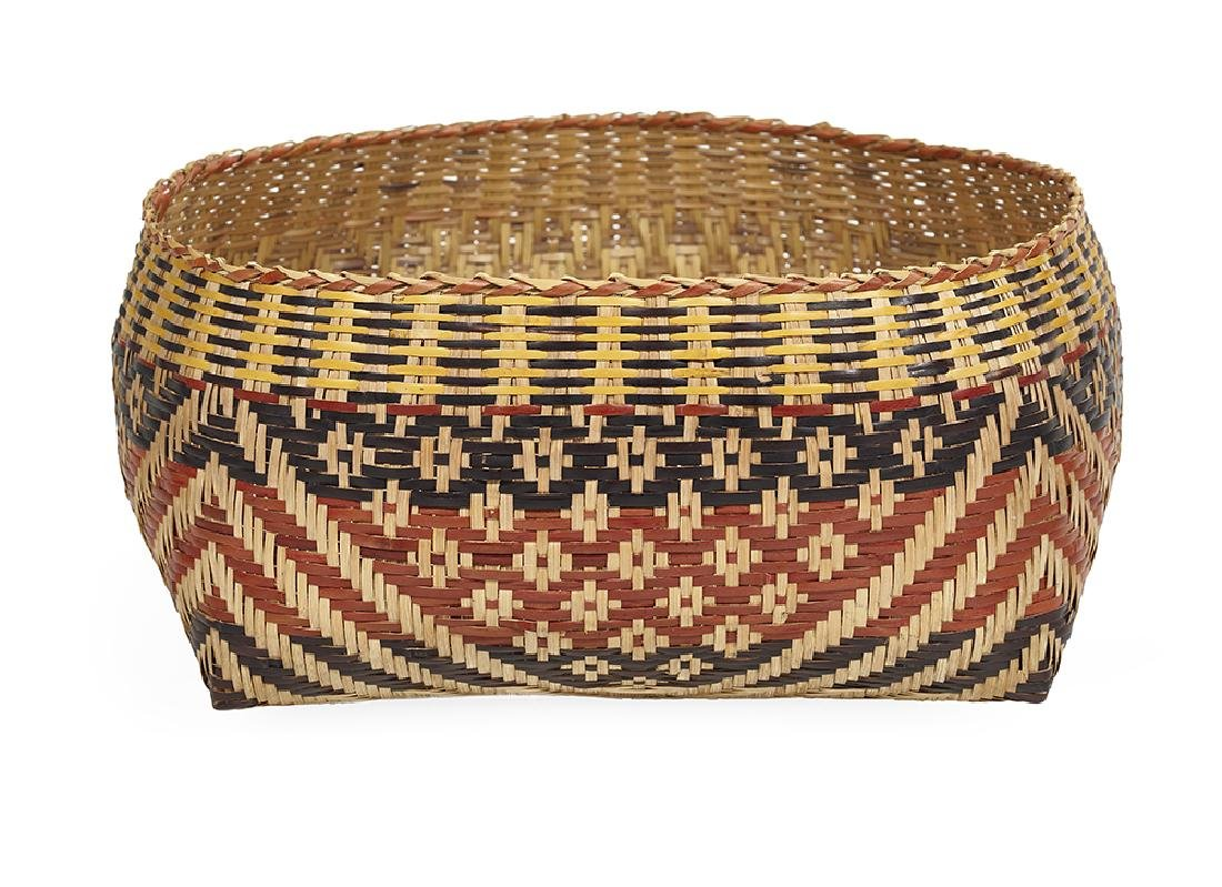 Chitimacha Indian River Cane Basket