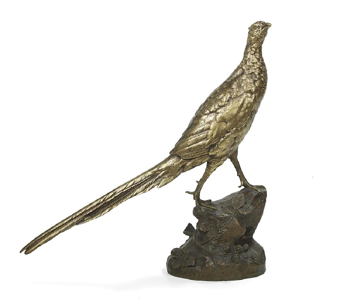 "French Patinated Bronze of ""Poule Faisane"""
