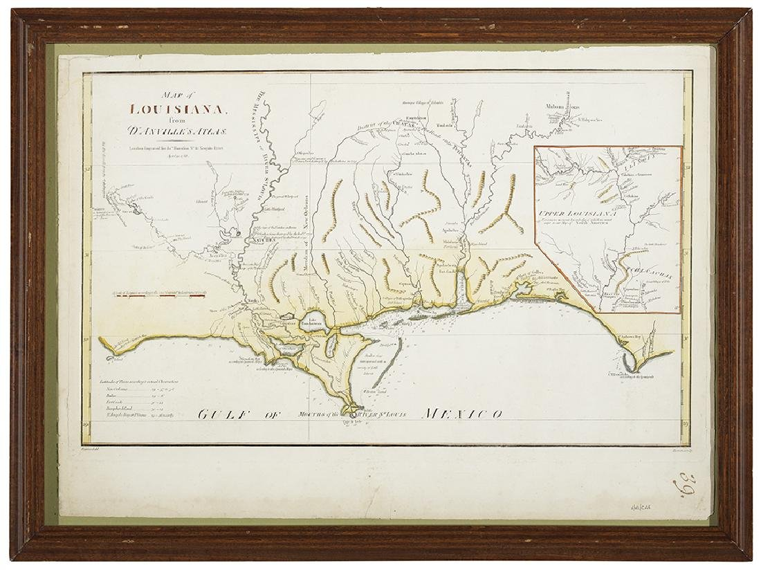 """""""Map of Louisiana from D'Anville's Atlas"""""""