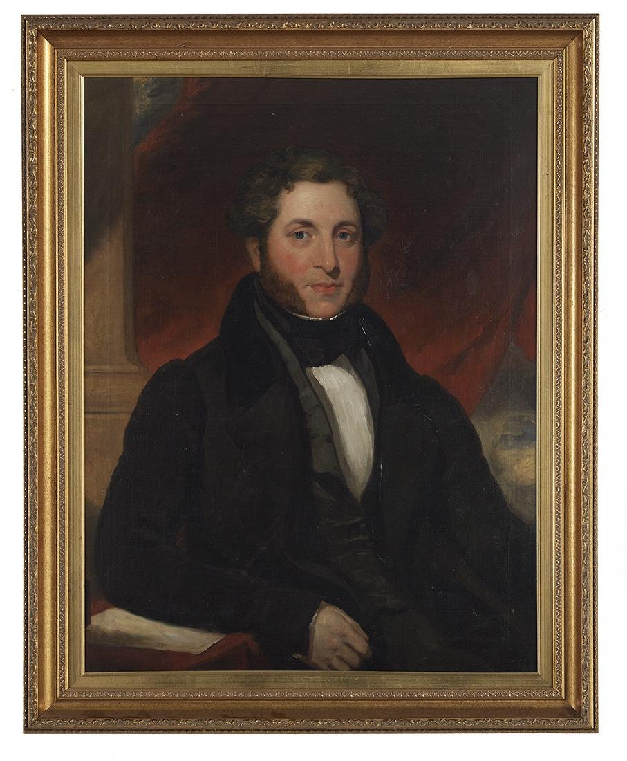"""Anglo-American School, (19th Century), """"Portrait of a"""