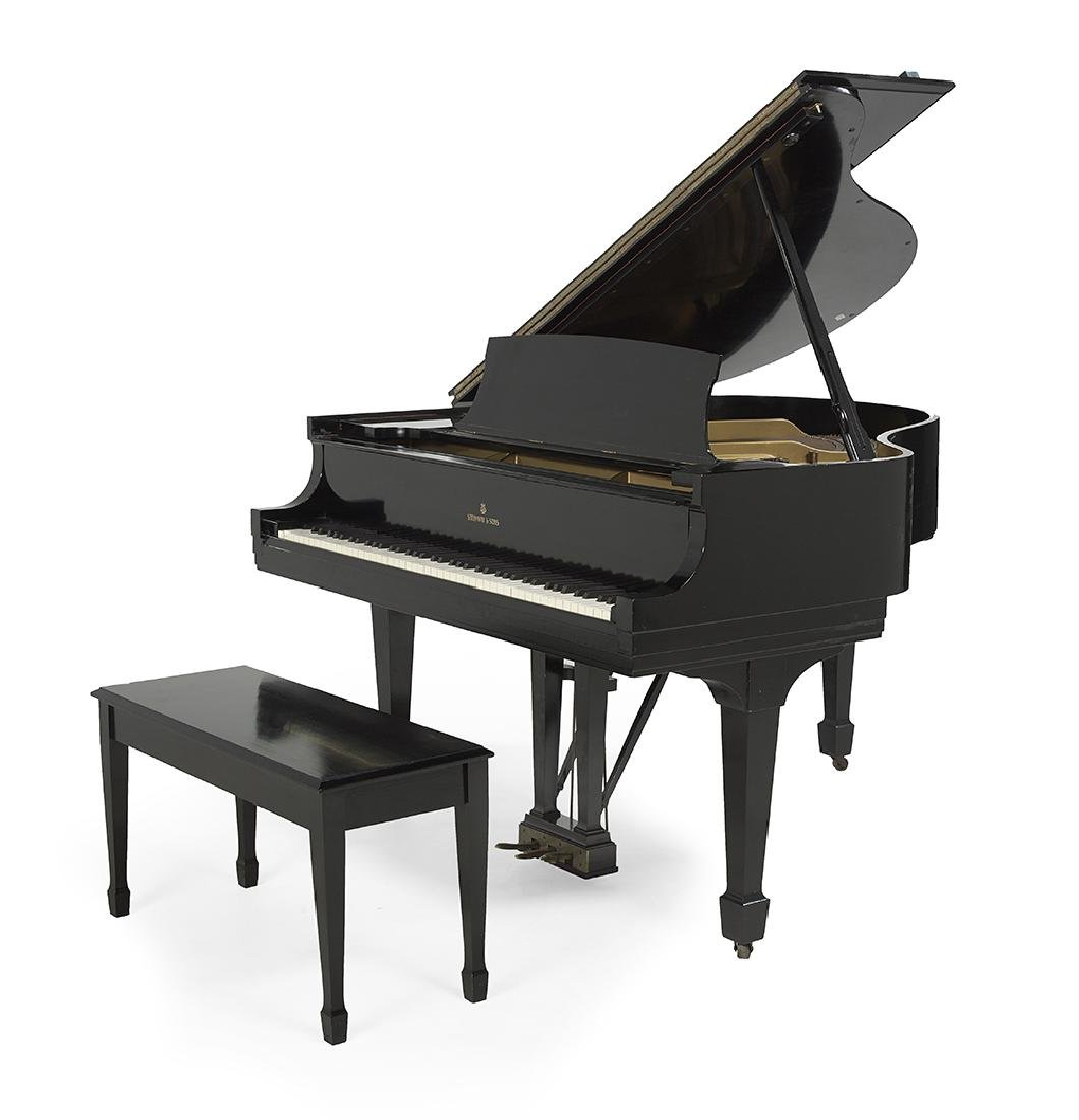 Steinway & Sons Model S Ebonized Baby Grand Piano and