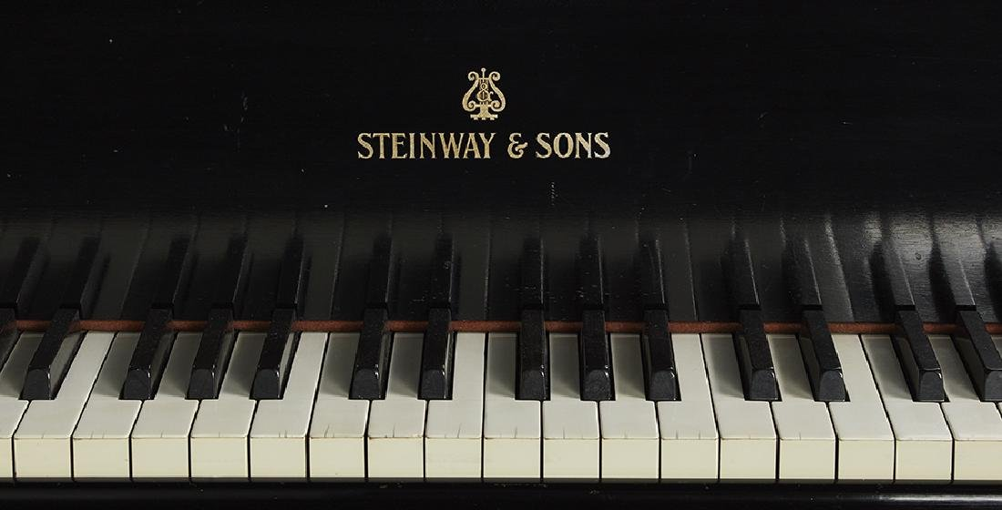Steinway & Sons Model S Ebonized Baby Grand Piano and - 2