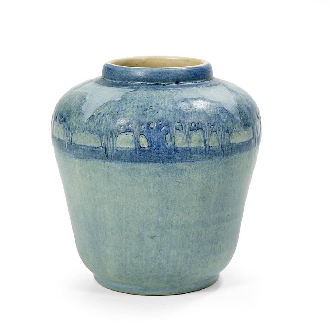 Newcomb College Art Pottery, matte-glazed vase, 1921,