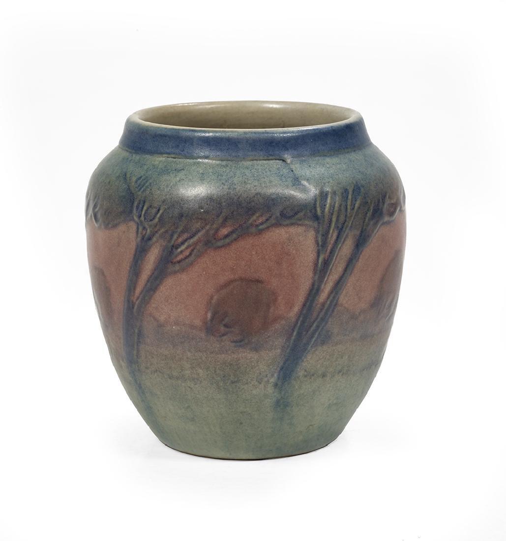 Newcomb College Art Pottery, matte-glazed vase, 1918,