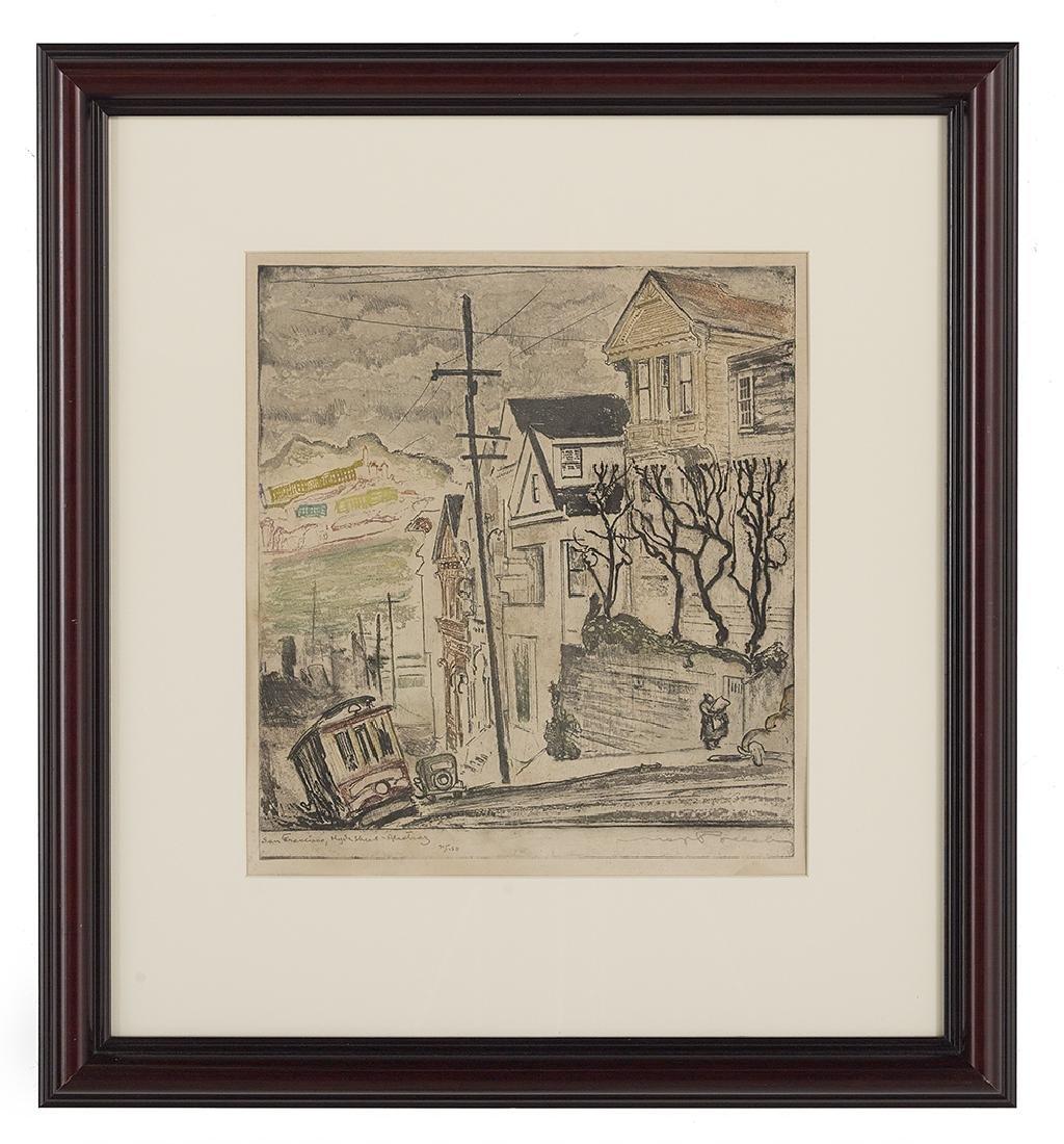"Max Pollak, (American, 1886-1970), ""San Francisco, Hyde"