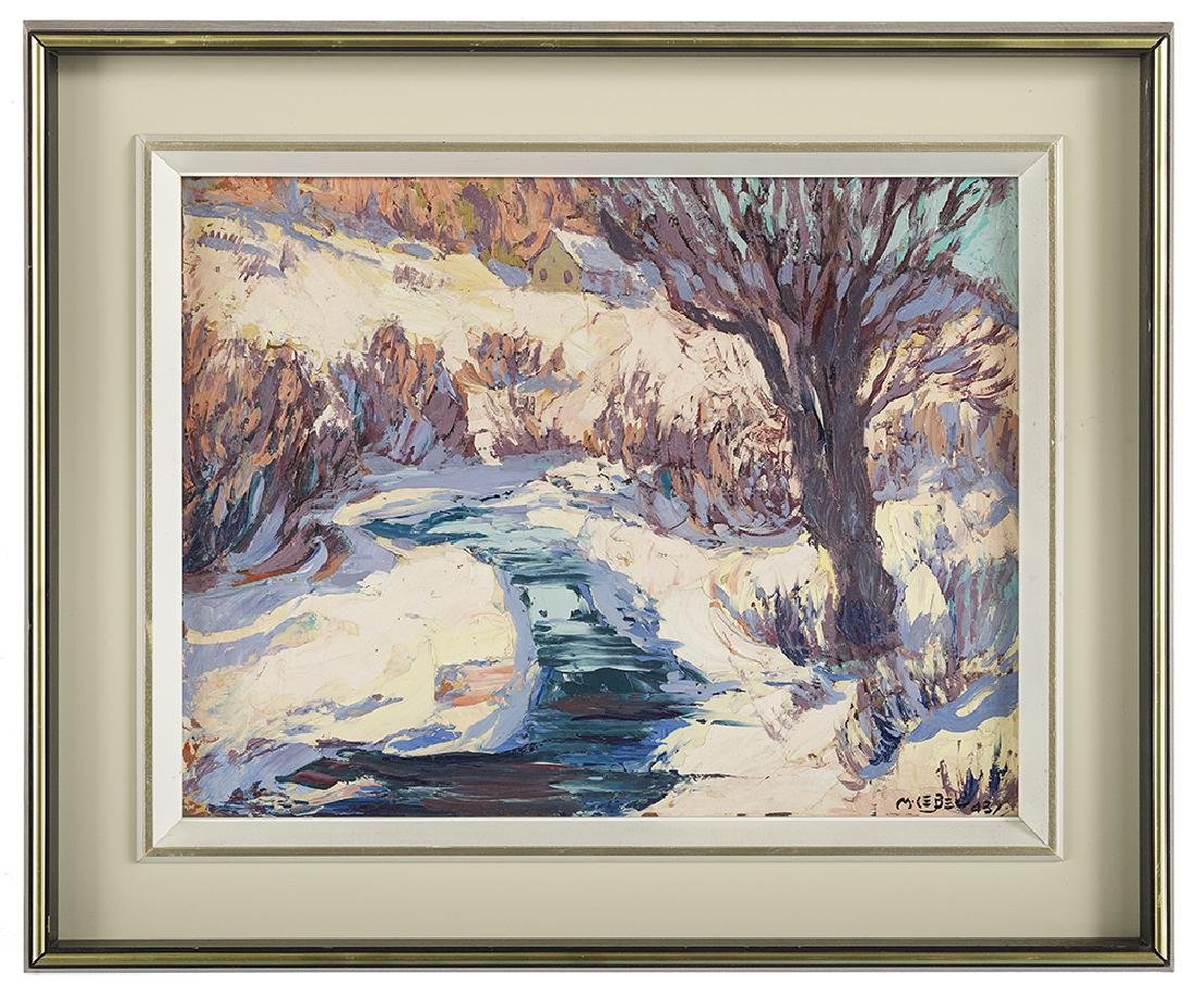 "Maurice Lebel, (Canadian, 1898-1963), ""Winter Landscape"