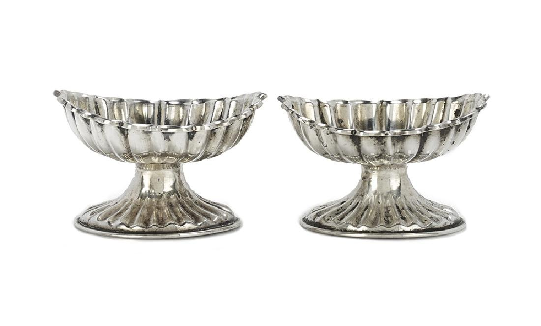 Pair of Continental Silver Salt Cellars