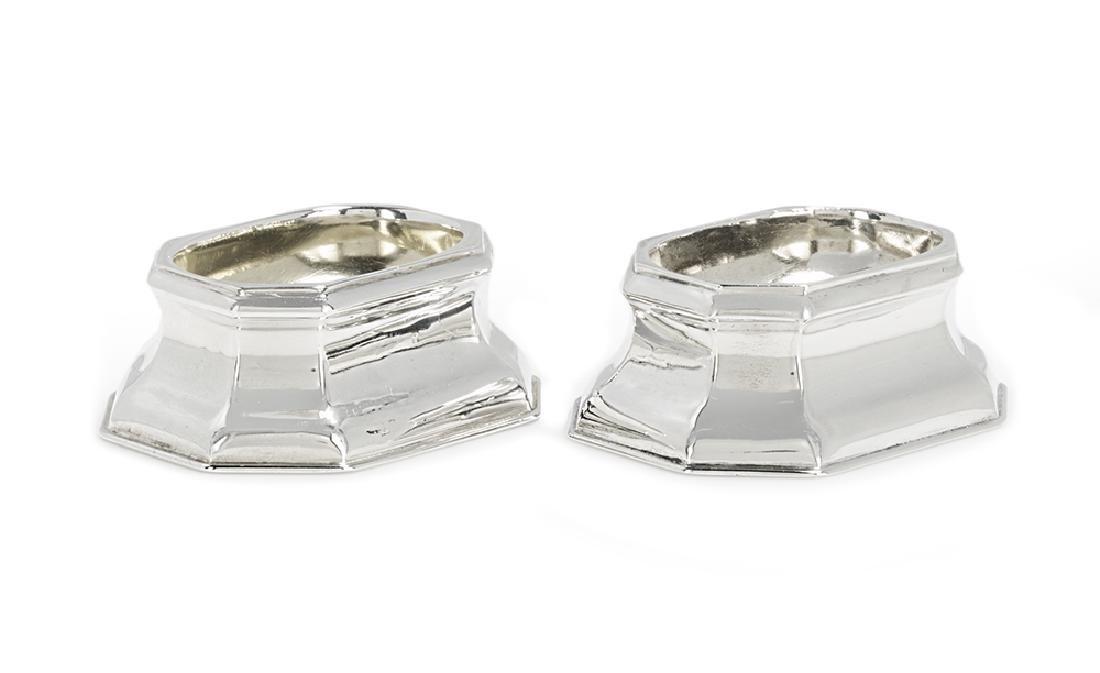 Pair of George II Sterling Silver Trencher Salts