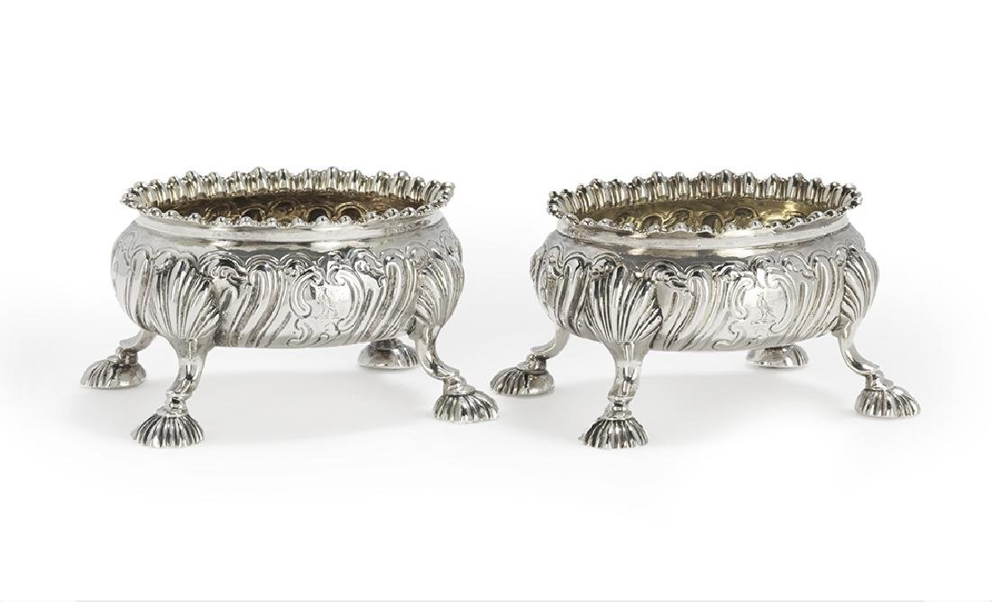 Pair of Early George III Sterling Silver Salt Cellars