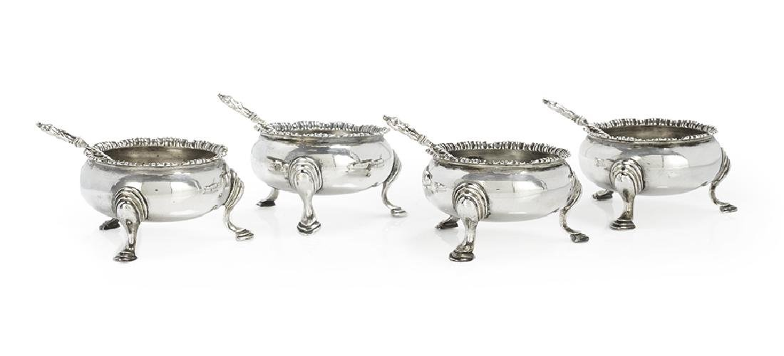 Set of Four Early George III Sterling Silver Salt