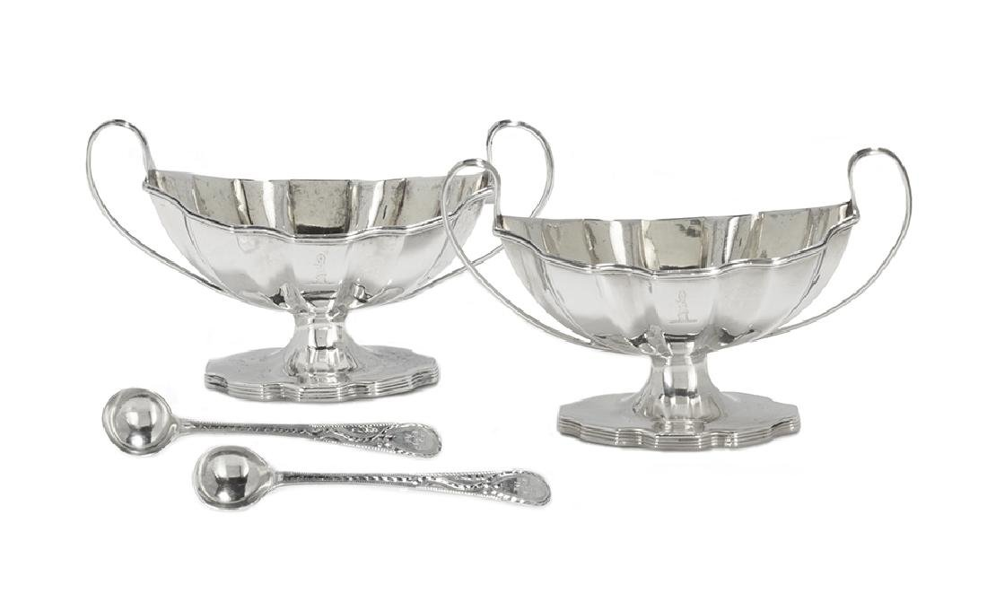 Pair of Hester Bateman Sterling Silver Salt Cellars