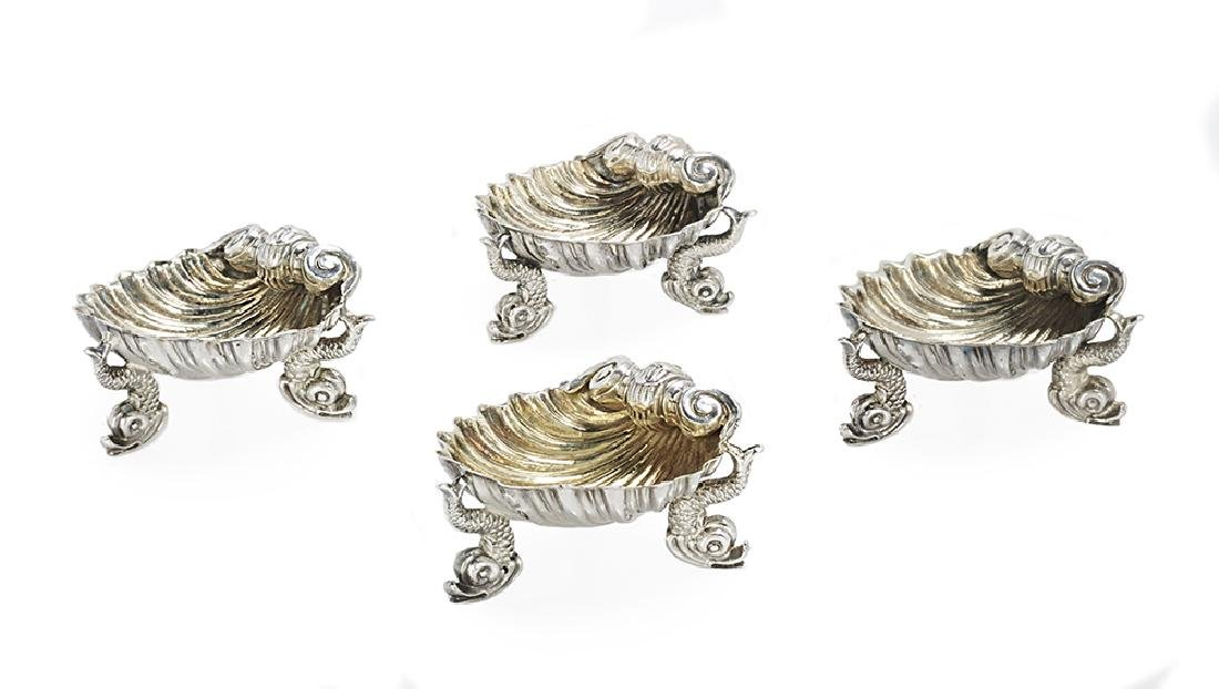 Suite of Four Victorian Sterling Silver Salt Cellars