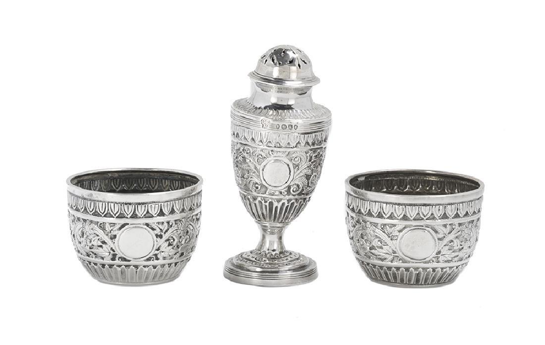 Victorian Cased Sterling Silver Salt and Pepper Set