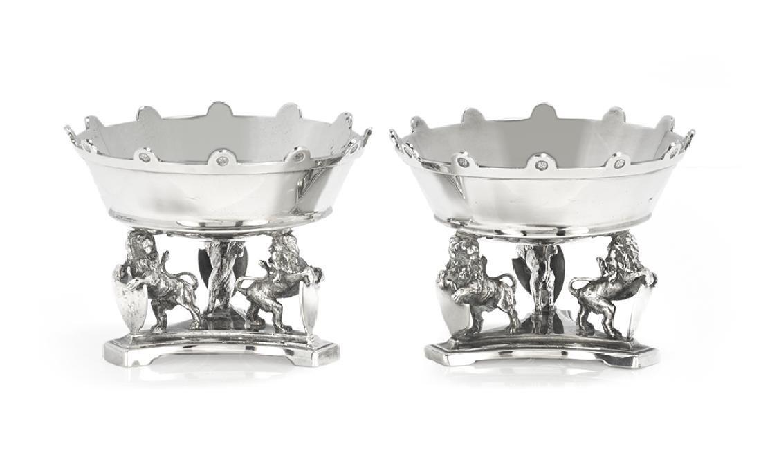 Good Pair of Gorham Silver Renaissance Revival Salt