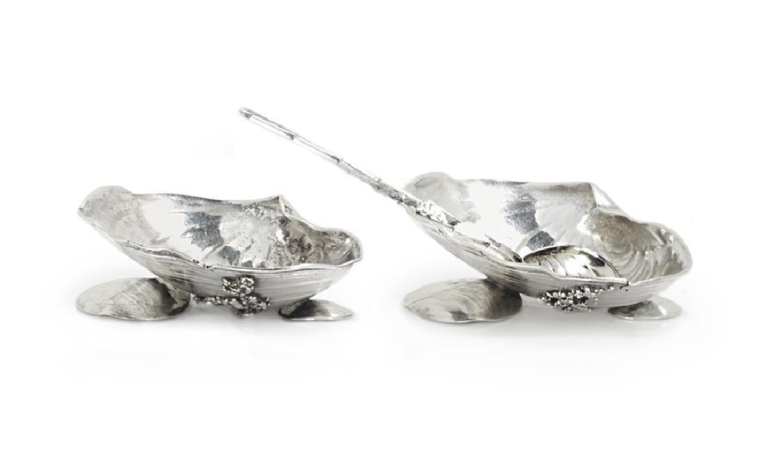 "Two Gorham ""Narragansett""-Style Silver Salt Cellars"