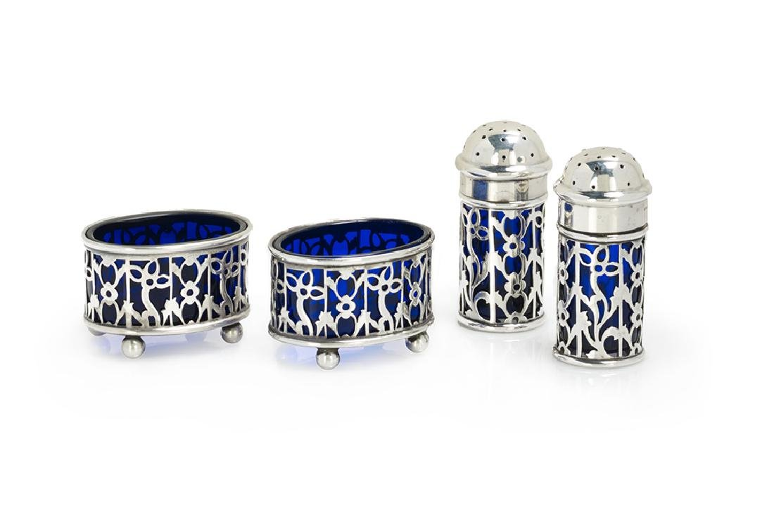 Four-Piece Gorham Sterling Silver Salt and Pepper Set