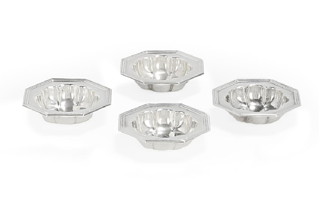 Set of Four American Sterling Silver Salt Cellars